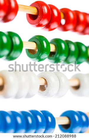 Detail of an old wooden abacus - stock photo