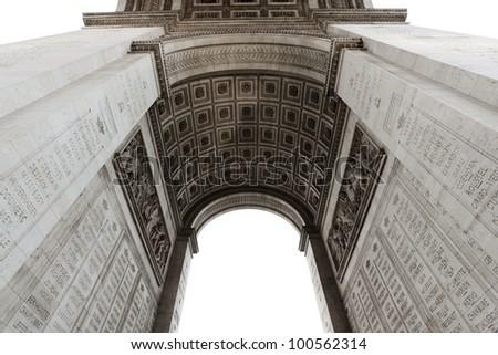 Detail of Arc de Triomphe aka Arch of Triumph, Paris, France. - stock photo