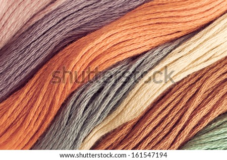 Detail of beautiful colored wools ,can be used for background - stock photo
