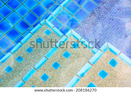detail of beautiful swimming pool. - stock photo