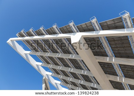 Detail of big solar panel at Barcelona, Spain - stock photo
