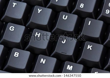 Detail of black computer keyboard - stock photo