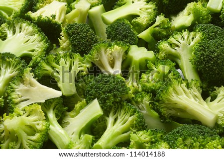Detail of boiled broccoli vegetable