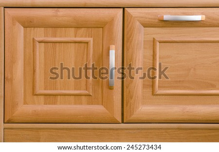 detail of cabinet doors