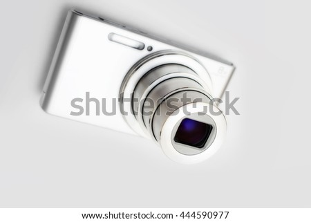 Detail of camera with manipulated colour and focus, unusual composition