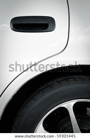 detail of car - stock photo