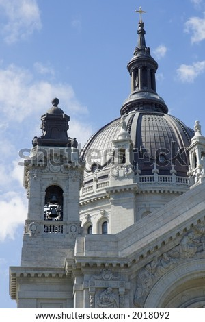 Detail of Cathedral of St. Paul St. Paul MN - stock photo