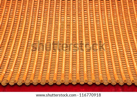 Detail of ceramic roof as background texture. - stock photo