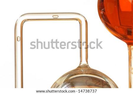 Detail of chemical instrument - stock photo