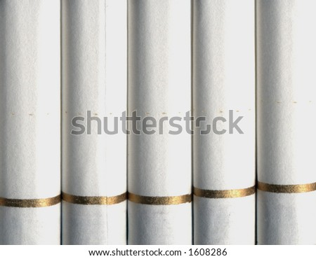 Detail of cigarette filters