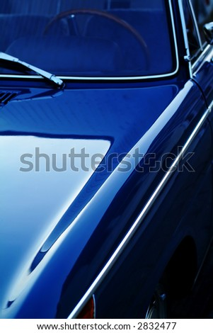 Detail of classic car - stock photo