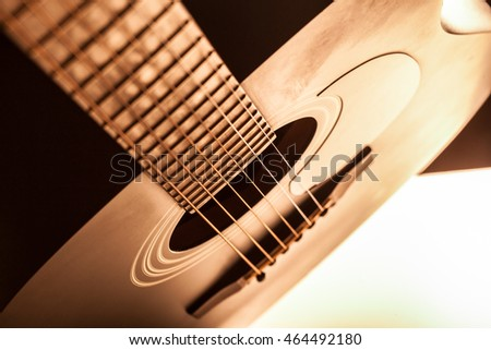 detail of classic guitar