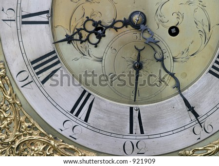 Detail of clock face