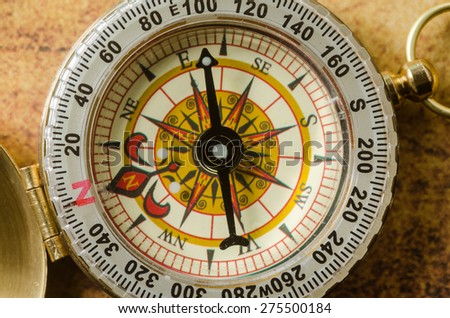 detail of compass - stock photo