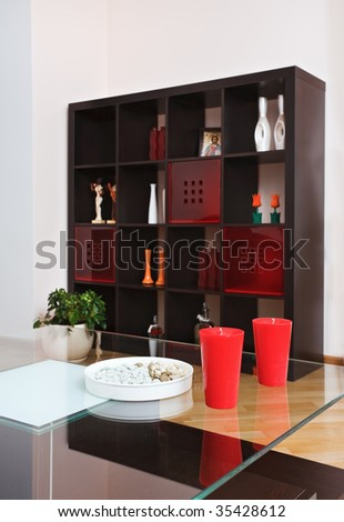 Detail of drawing-room interior in modern style - stock photo