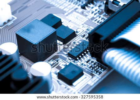 Detail of electronic board, Macro with extremely shallow dof - stock photo