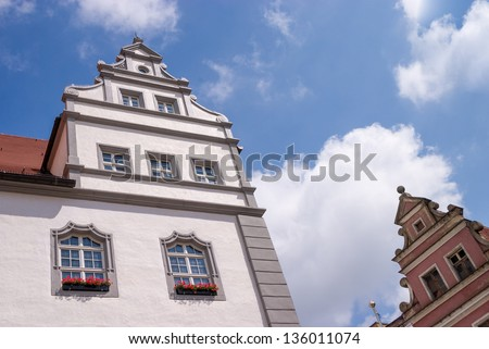 Detail of european houses in Wittenberg - stock photo
