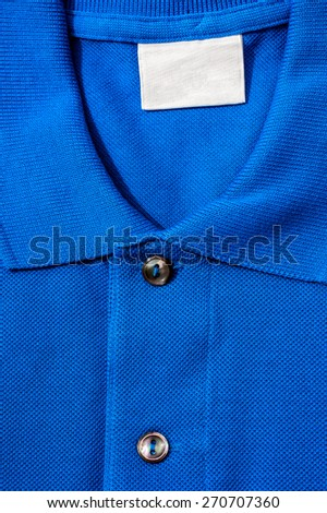 Detail of expensive polo shirt.