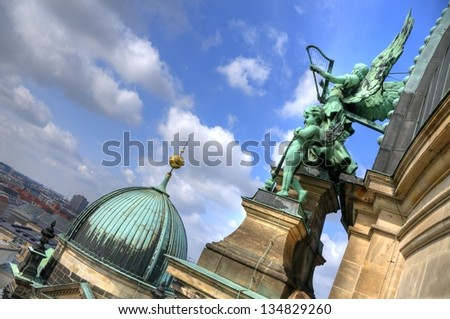 Detail of exterior of the Berlin Cathedral in Berlin, Germany