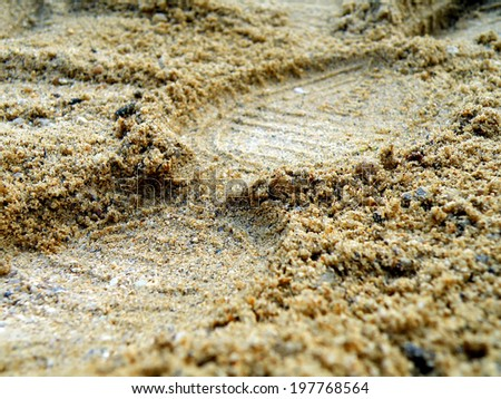 Detail of foot in wet sand on the beach - stock photo
