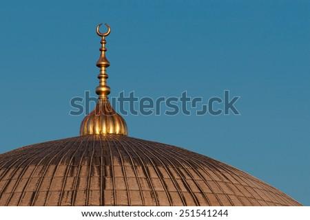 Detail of Hagia Sofia dome - stock photo