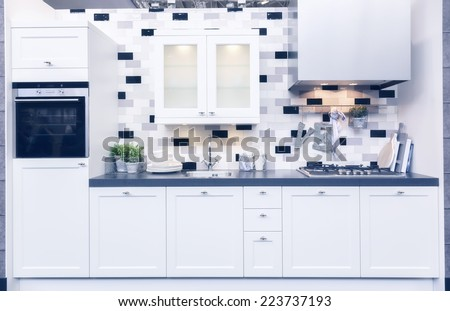 detail of home kitchen