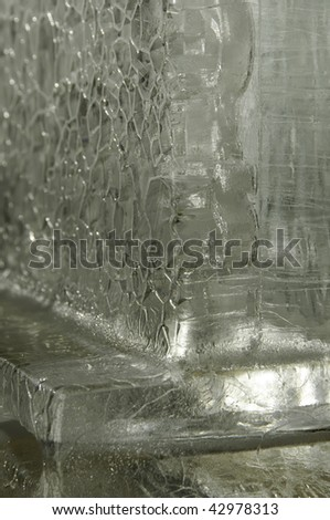 Detail of ice sculpture