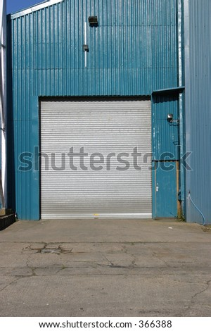 Detail of industrial storage unit and roller shutter door & Detail Industrial Storage Unit Roller Shutter Stock Photo 366388 ...