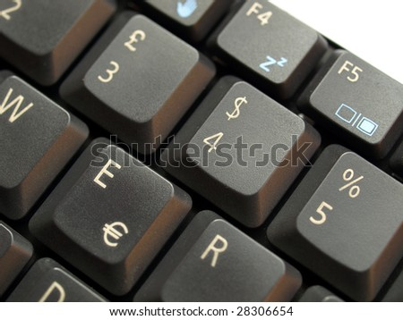 Detail of keys on a computer keyboard