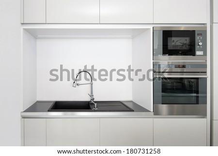 Detail of kitchen appliances - stock photo