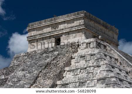 Detail of Kukulcan Temple at Chichen Itza