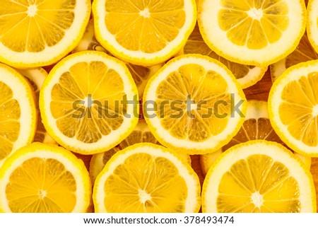 detail of lemon slices image - stock photo