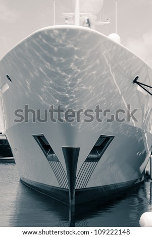 Detail of luxury ship, digitally retouched and toned photo. - stock photo