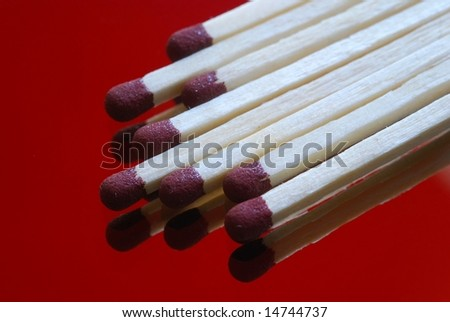 detail of matches