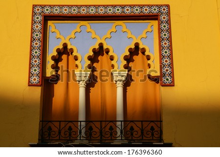 detail of Mosque-Cathedral, Cordoba, Andalusia, Spain - stock photo