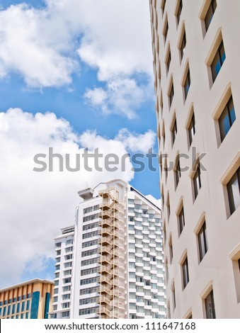 detail of  office building  exterior . - stock photo