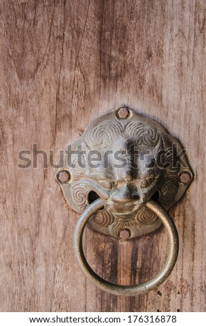 Detail of old chinese door
