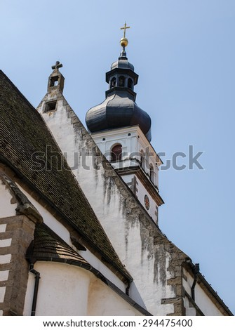 detail of old church - stock photo