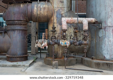 Detail of old factory - stock photo