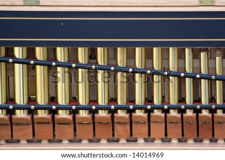 Detail of old organ instrument