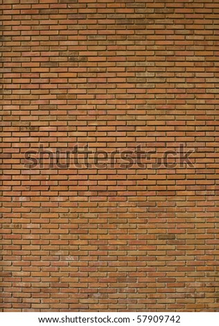 detail of orange brick wall - stock photo