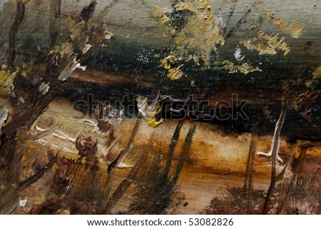 Detail of painting - stock photo