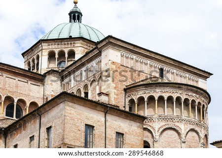 detail of Parma Cathedral, Emilia-Romagna, Italy - stock photo