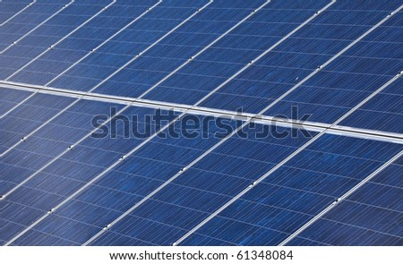 detail of photovoltaic solar panels
