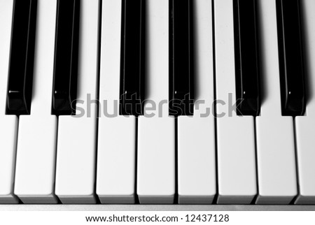 detail of piano keyboard