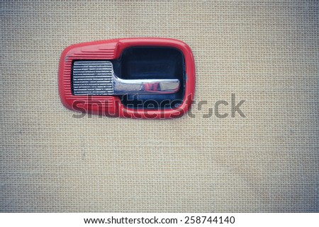 Detail of retro car - stock photo