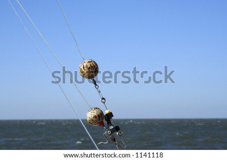 Detail of Saltwater Fishing Rig - stock photo