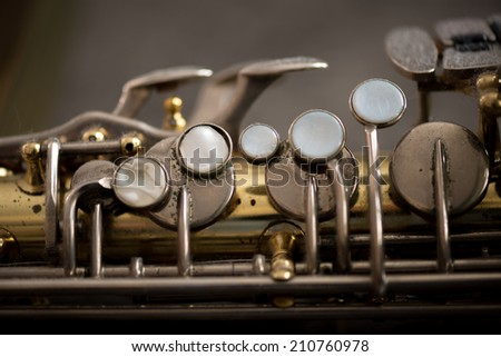 Detail of saxophone - stock photo