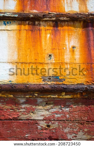 Detail of Shipwreck in camaret-sur-mer, Brittany, France, Europe - stock photo