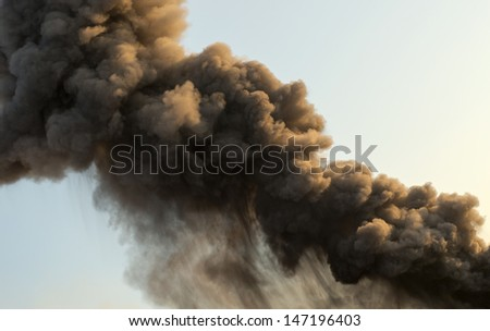 "Detail of smoke from a Volcanic Eruption at ""Stromboli"", Italy"